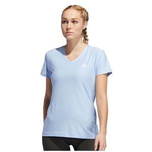 ADIDAS- 'Glow Blue' Womans V-Neck Shirt
